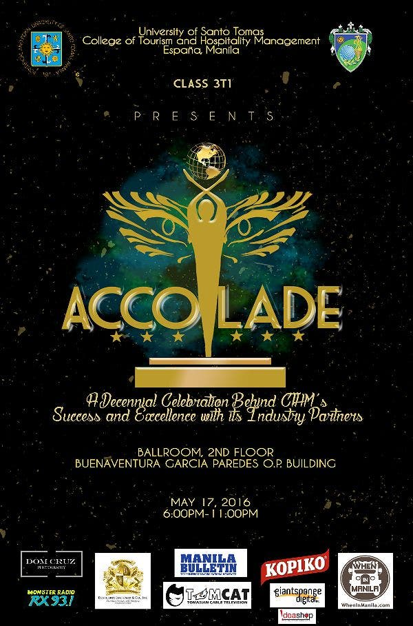 ACCOLADE: A Decennial Celebration of UST College of Tourism and Hospitality Management