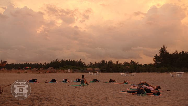 Sereia yoga sunset