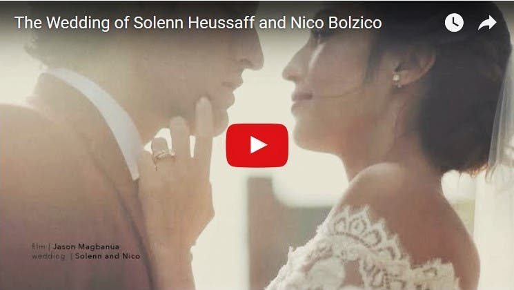 WATCH: The Beautiful Wedding of Solenn Heussaff to Nico Bolzico in France