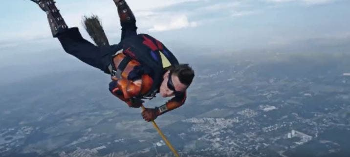 WATCH Skydivers Play Quidditch