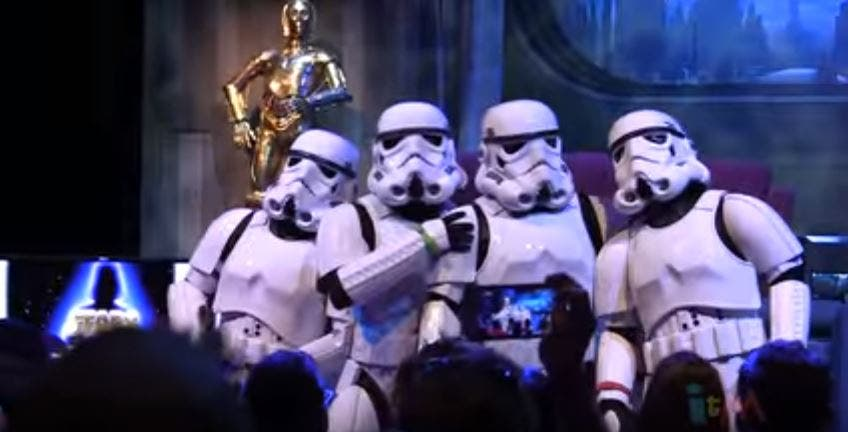 WATCH Stormtroopers Perform Get Lucky, Wrecking Ball, and Let It Go