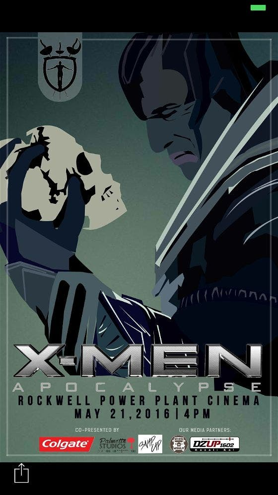 "Catch the Special Screening of ""X-Men: Apocalypse"" @ Rockwell Power Plant Cinema"