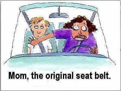 mom as original seatbelt