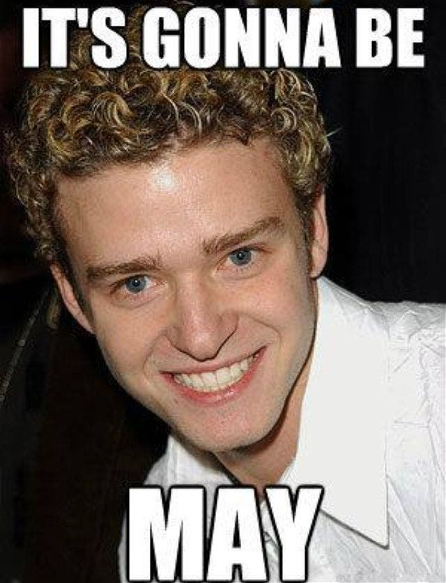 "LOOK: Justin Timberlake Hopped in on the ""It's gonna be May"" Meme Tradition!"
