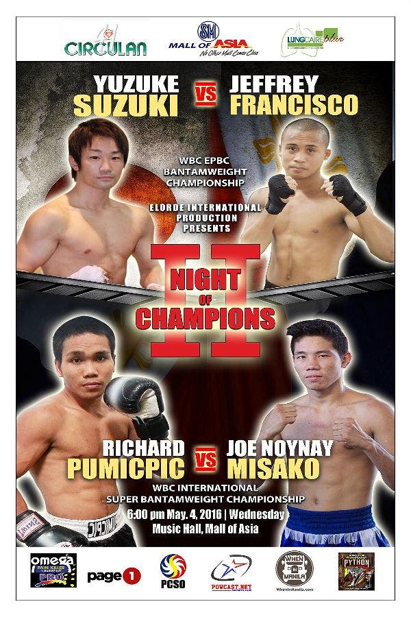 Back-to Back Championship Event: Elorde's Night of Champions II