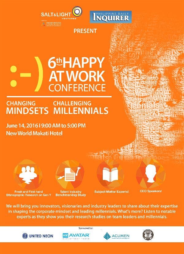 6th Happy at Work Conference: Changing Mindsets, Challenging Millenials