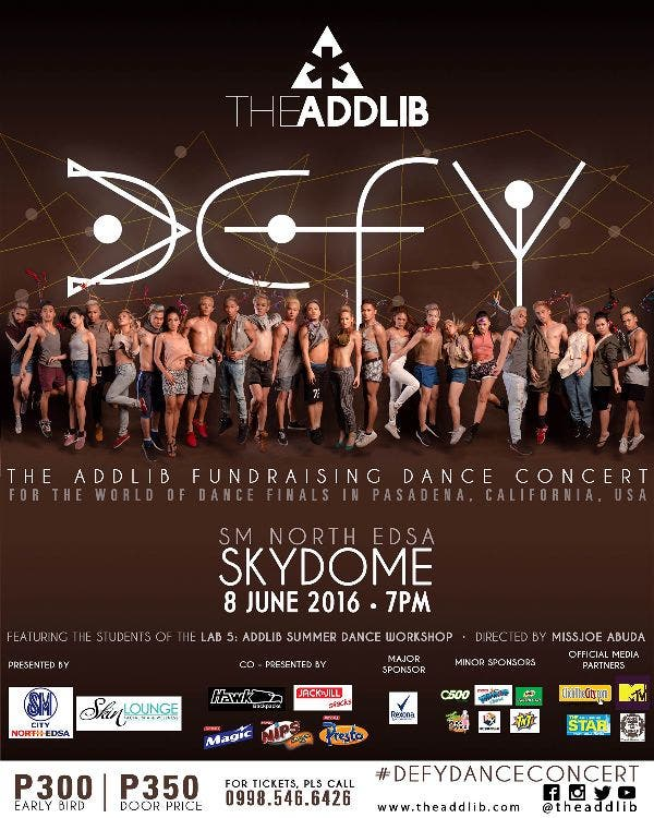 DEFY: The Addlib's Fundraising Concert for World of Dance Finals