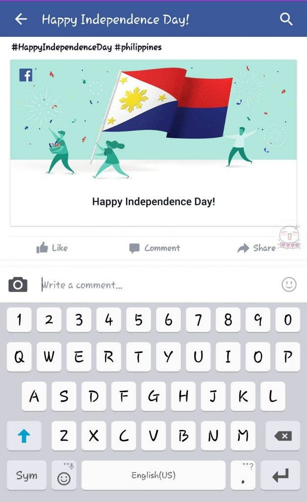 Independence Day PH Flag Facebook - cropped