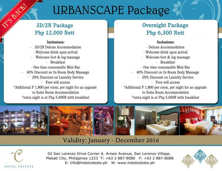 Urbanscape Package2016 all year round promo