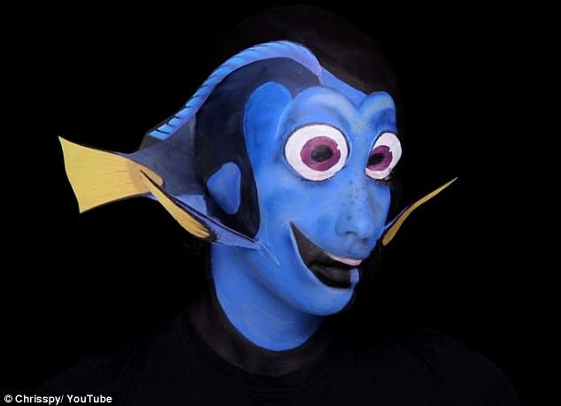 WATCH Makeup Artist Transforms Herself into Dory