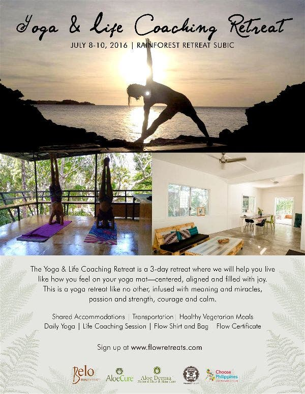 """""""Yoga & Life Coaching Retreat"""" in Subic this July"""