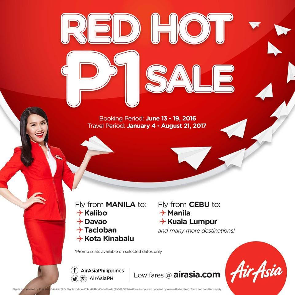 air asia red hot P1 sale