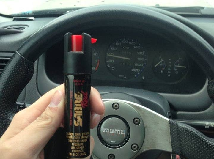 Carnapping Modus Pepper Spray