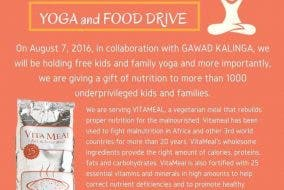 Yoga and Food Drive Gawad Kalinga