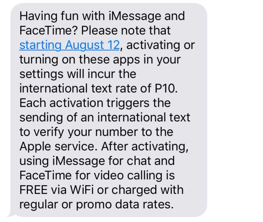 No, You Will NOT be Charged 10 Pesos per iMessage - When In