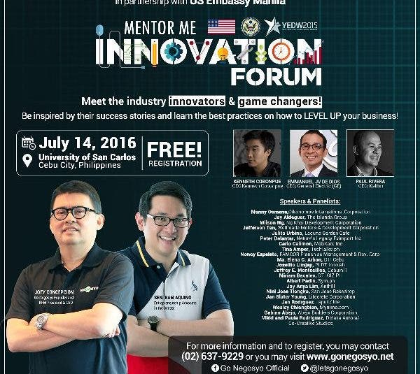 Mentor Me Innovation Forum: Go Negosyo and US Embassy's Mentorship Gathering for Young Entrepreneurs