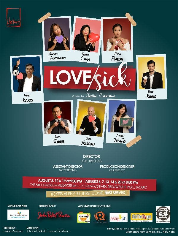 Rachel Alejandro Gets Love/Sick: Catch the Stage Play this August at The Mind Museum