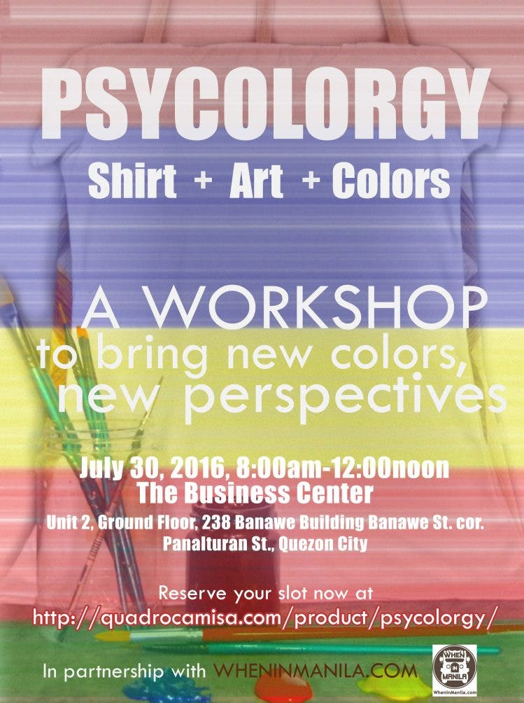 Quadro Camisa Psycolorgy Poster with When in Manila Logo_resize
