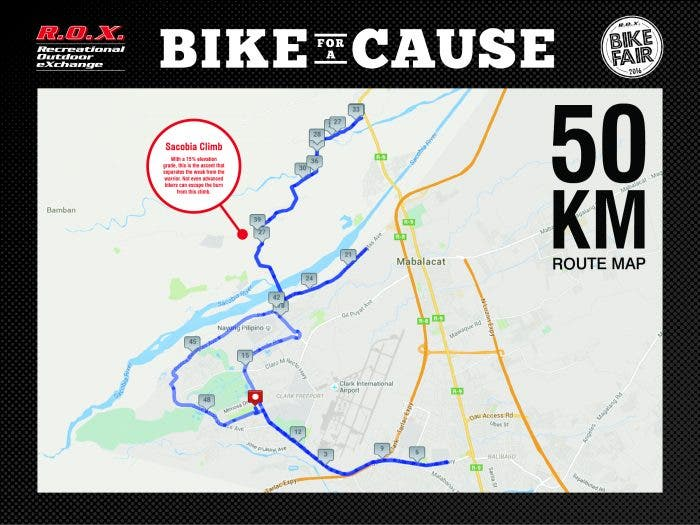Route Map_50KM_8 ft x 6 ft