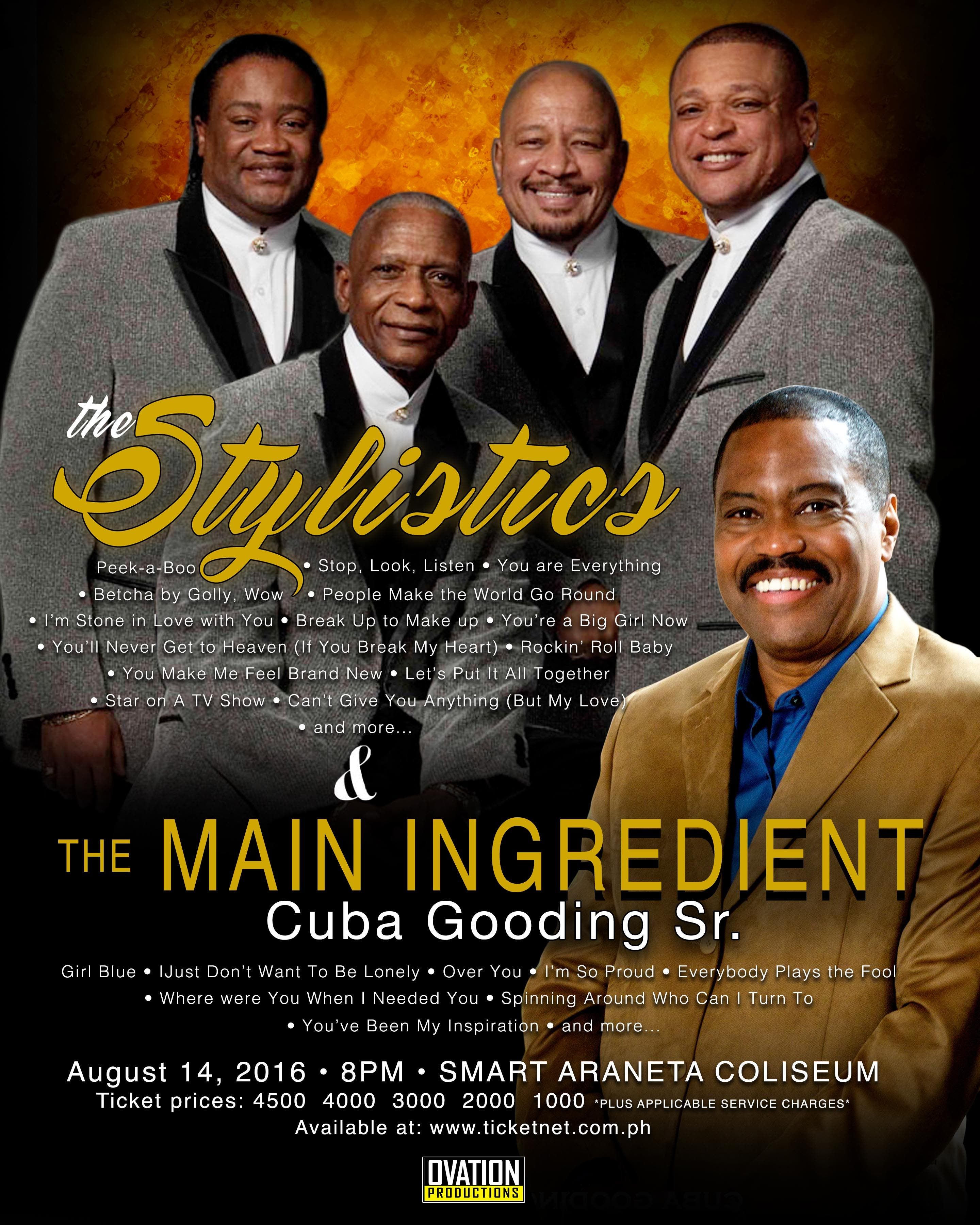 STYLISTICS AND MAIN INGREDIENT POSTER
