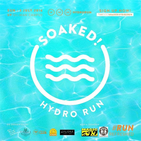 Run for Health at Soaked: HydroRun – July 3rd @ UP Diliman Oval