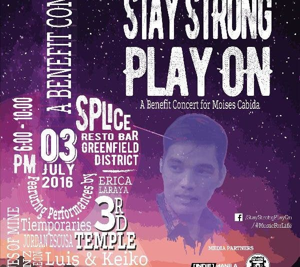 Stay Strong, Play On: A Benefit Concert featuring Mayonnaise, Danny Corsiga, Keiko Necesario, and More