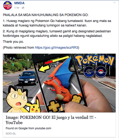 mmda- pokemon go