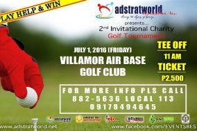 2nd Invitational Charity Golf Tournament @ Villamor Air Base Golf Club