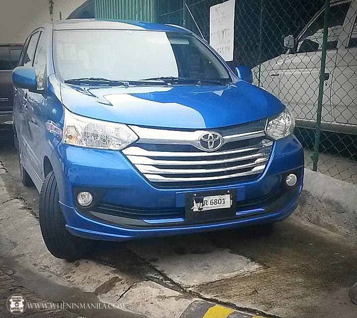 Toyota Avanza test unit