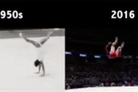 LOOK: Olympics Gymnastics in 1950 vs 2016