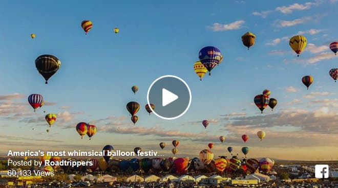 Colorful Video of Hot Air Balloons Launching Into the Sky