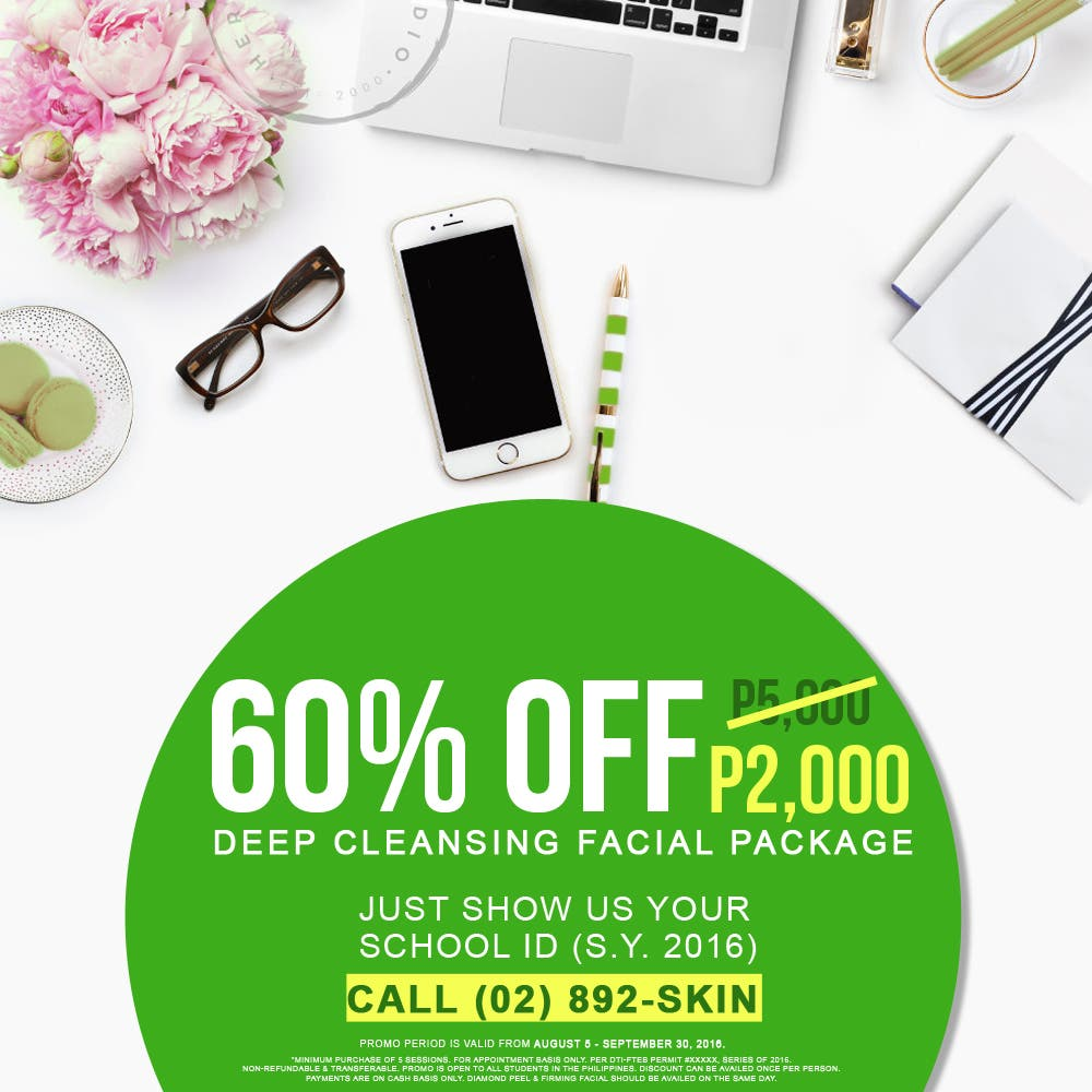 Facial Care Center and For Men's offers 60%off to Students!
