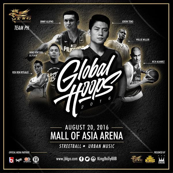 TICKET GIVEAWAY: Catch Global Hoops 2016, A Streetball Event with Teams USA, China, and Philippines! King Bally