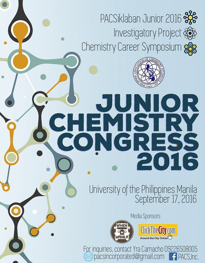 Junior Chemistry Congress Main Pubmat