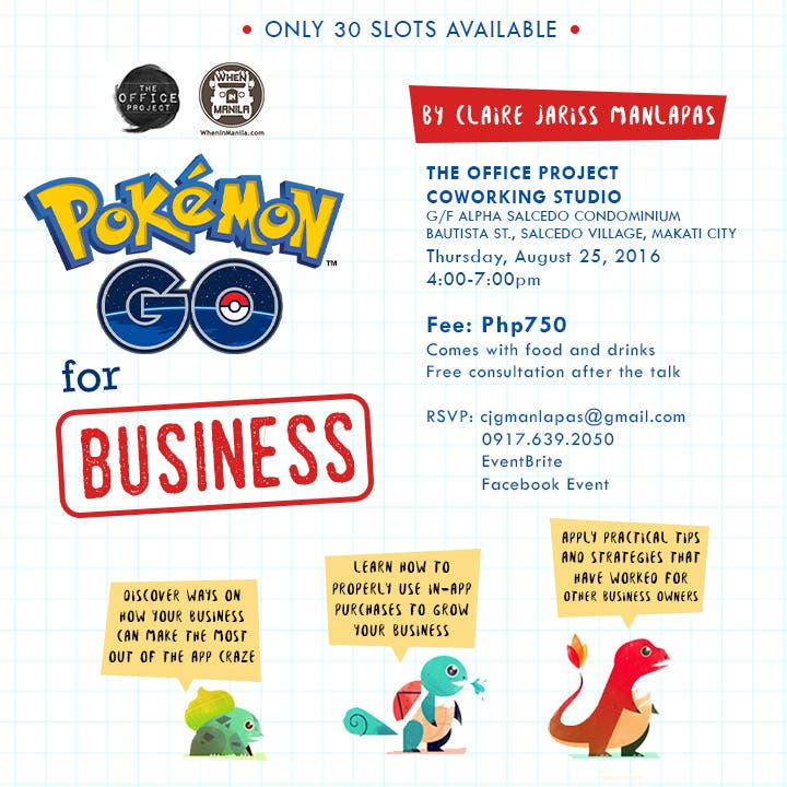 Pokemon Go seminar - updated poster - square