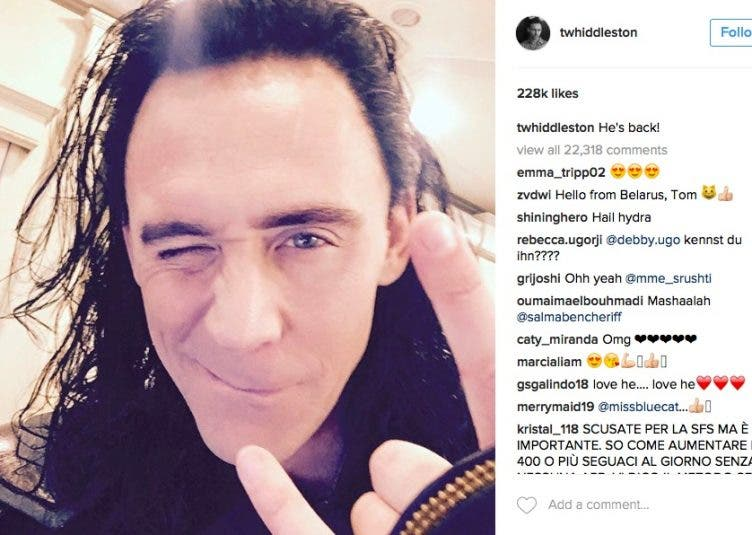 Tom Hiddleston Loki Thor Ragnarok
