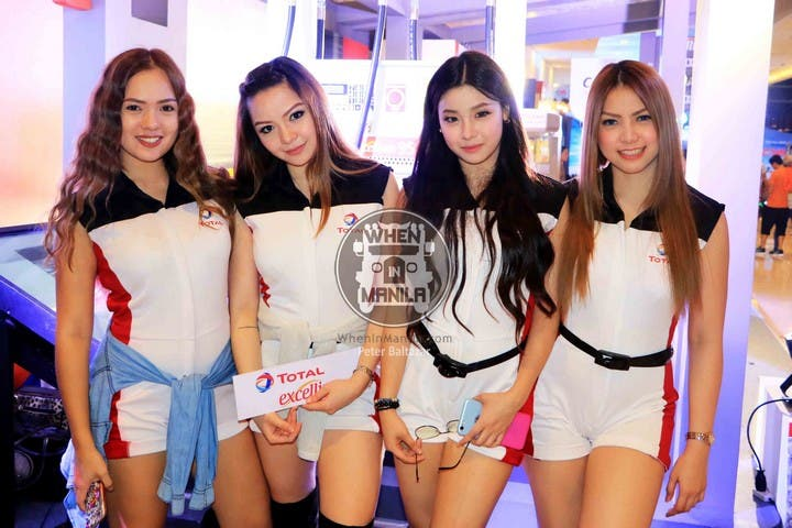 Total Models (L to R) Alaine Morata, Sharlyn Dizon, Allyssa Lao and Cyndi Garcia during the Philippine International Motor Show 2016 held at World Trade Center Philippines