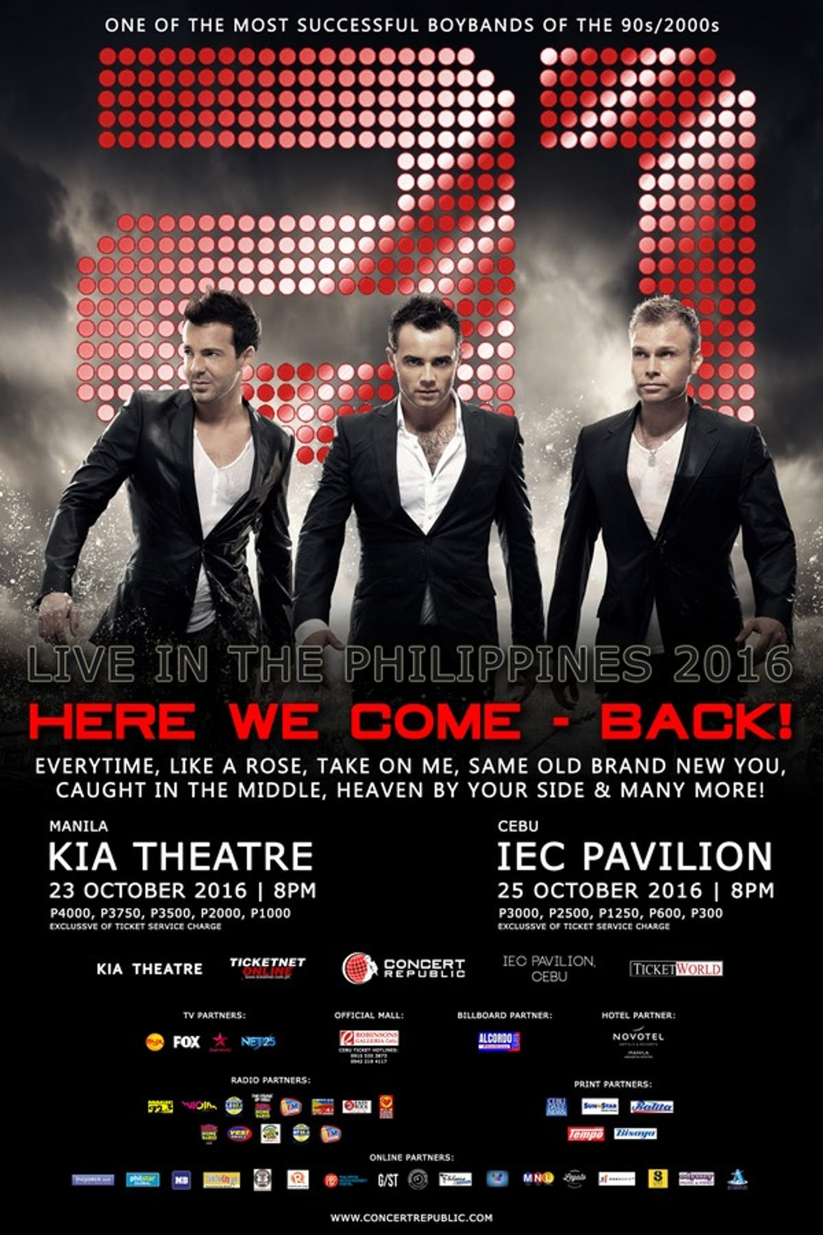 A1 ARE COMING BACK TO THE PHILIPPINES FOR A 2 NIGHT SHOW