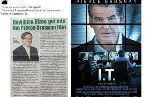 Filipino News Anchor Chosen for Voice-Over Role in Pierce Brosnan Film