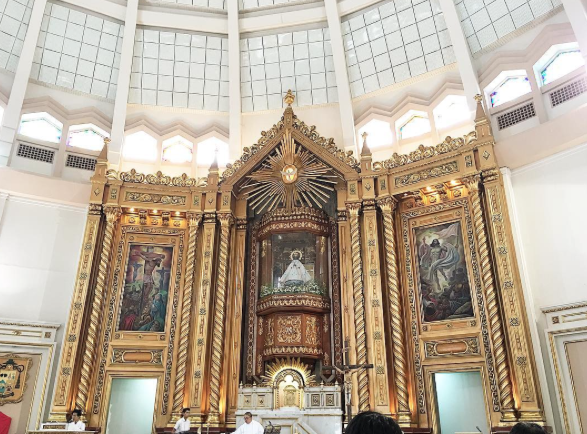 """I am always blown away by the big beautiful cathedrals here. Last Saturday we popped into Our Lady or Peace and Good Voyage at the start of our #TayoNaSaAntipolo Tour 2016. What a great way to begin our exploration."""