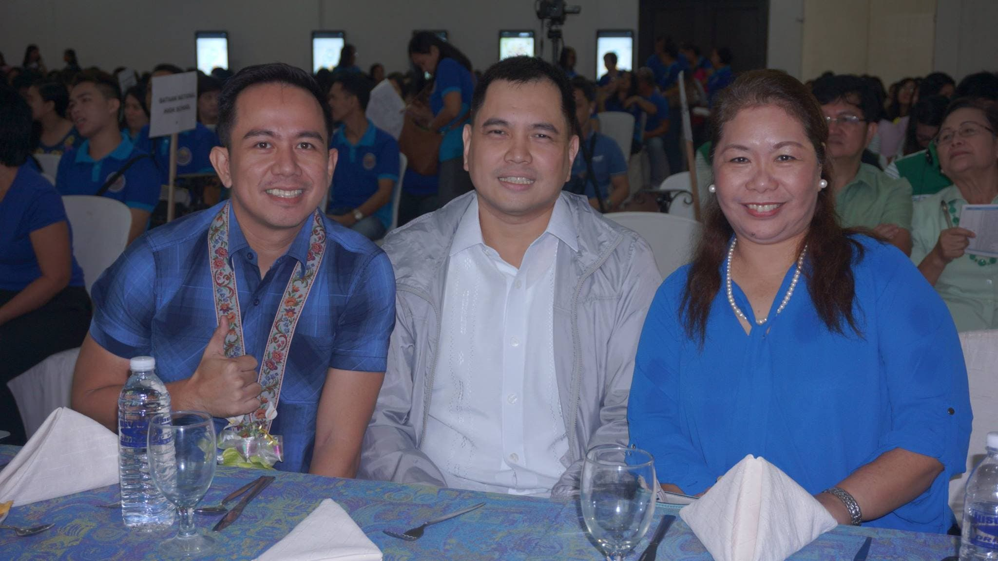 With Mayor Francis Anthony Garcia and DepEd Superintendent Carolina Violeta