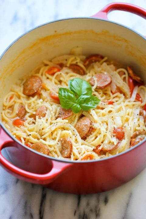 one-post sausage andouille pasta