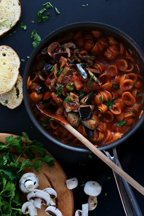 one-pot vegan pasta