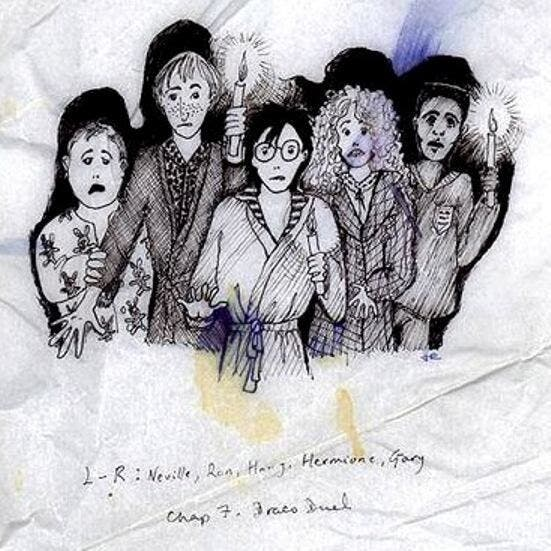 J.K. Rowling Also Draws, Shares Her Own Harry Potter Sketches