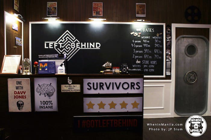 Left Behind Escape room game room