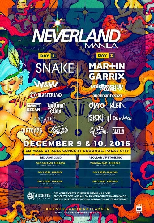 Line up for Neverland Manil a2016