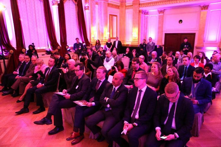 Qatar Airways hosted its press conference to celebrate the arrival of its first flight in Helsinki in the iconic Mirror Room at Hotel Kamp in the heart of the city.