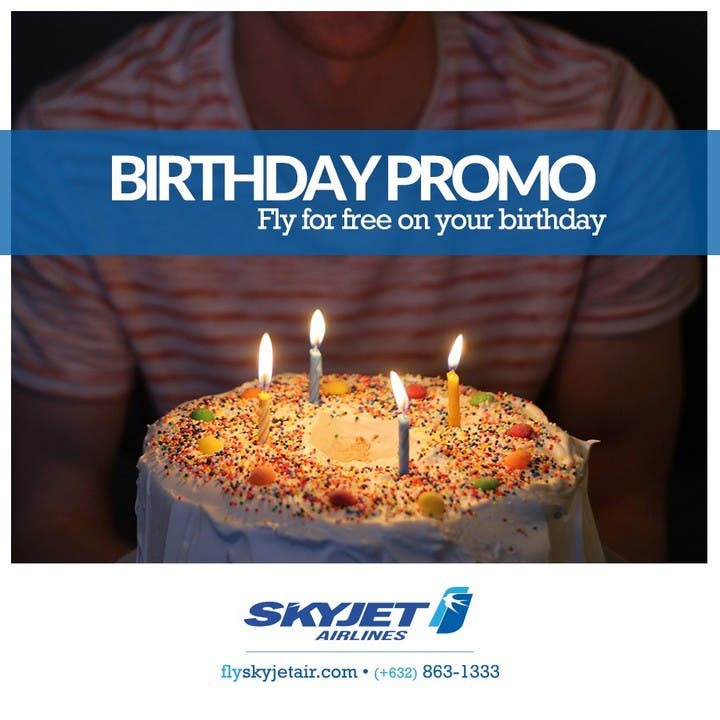 Fly for Free SKYJET Birthday Promo