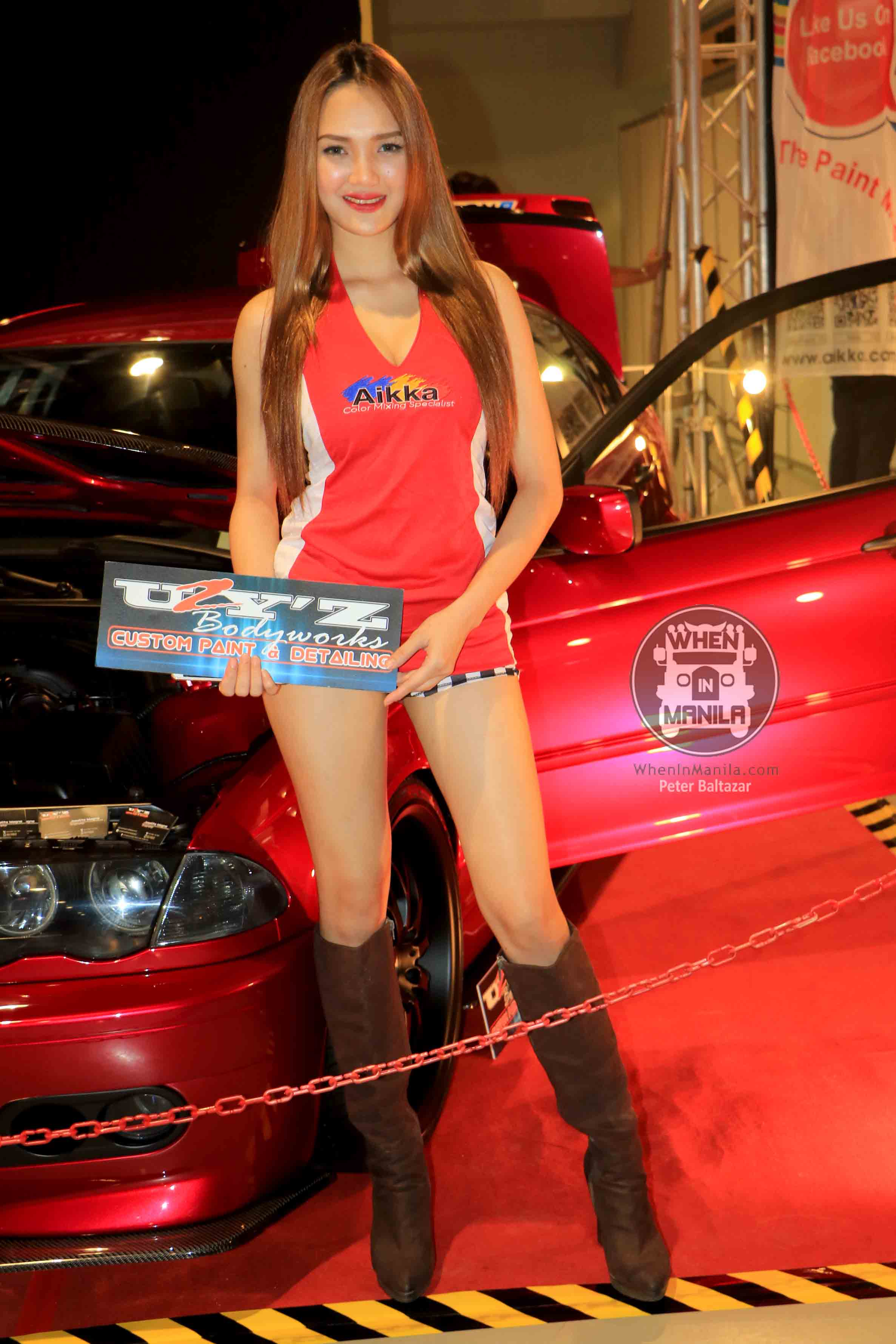 The Hottest Filipina Models Booth Babes At The Manila Auto - Car show models photos