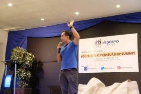 Speaking at DTI's Youth Entrepreneurship Summit in Cagayan de Oro